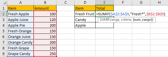 Sum Data if Begins with 2