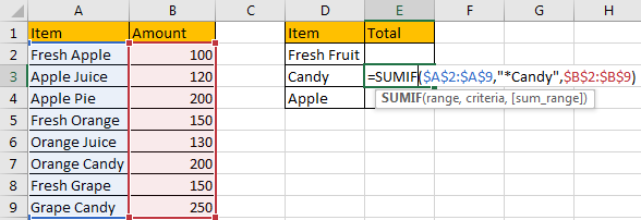 Sum Data if Begins with 5