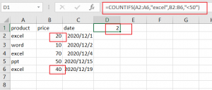 count cells match two criteria1