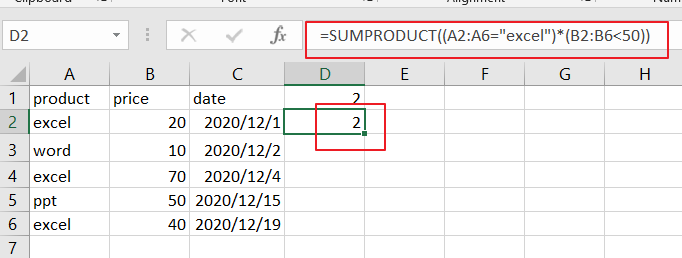 count cells match two criteria2