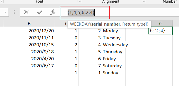 count dates by days of week3