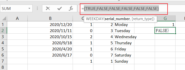 count dates by days of week5