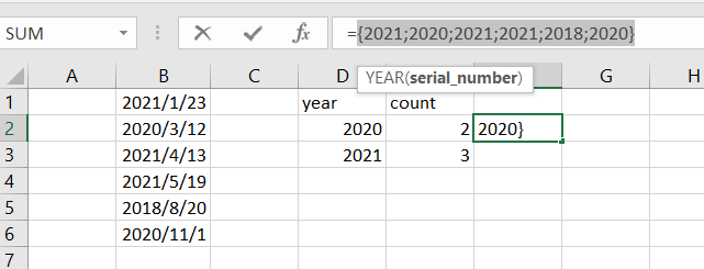 count dates of given year3