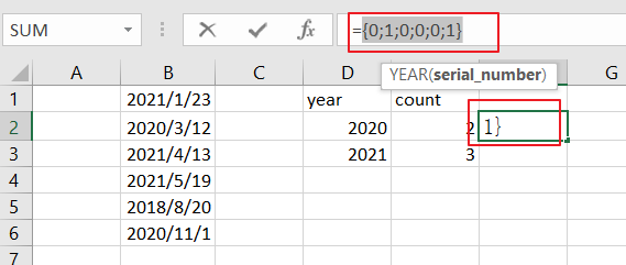 count dates of given year7