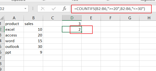 count range by countifs2
