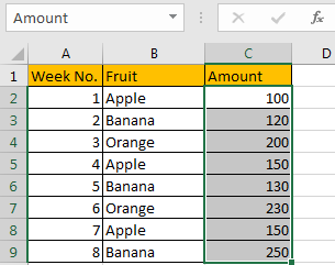 How to Sum Numbers by Formula if Cells Equal to A Certain Value 3