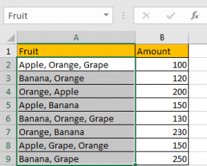 How to Sum by Formula if Cell Contains Both A and B in Excel 2