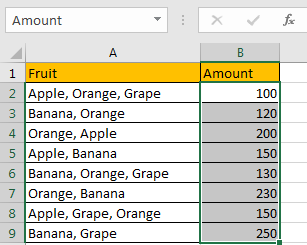 How to Sum by Formula if Cell Contains Both A and B in Excel 3