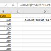 How to Sum by Formula if Cell Contains Special Character 13