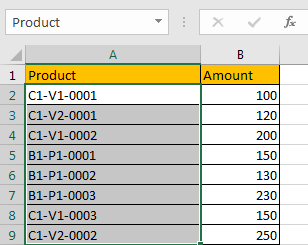 How to Sum by Formula if Cell Contains Special Character 2