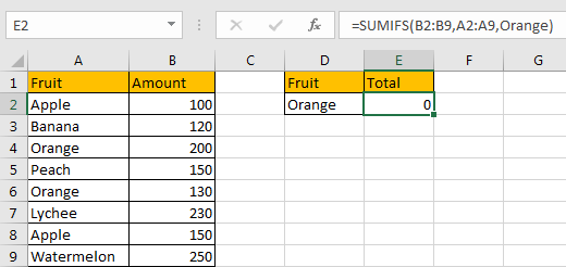 Sum if Cell Contains Text in Another Column 10