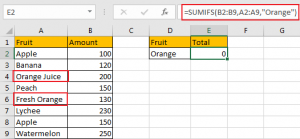 Sum if Cell Contains Text in Another Column 11