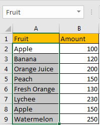 Sum if Cell Contains Text in Another Column 14