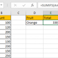 Sum if Cell Contains Text in Another Column 16