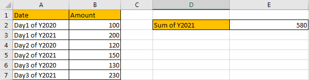 How to Sum by Formula if Cell Ends with in Excel1