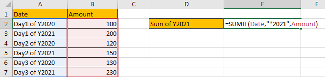 How to Sum by Formula if Cell Ends with in Excel10