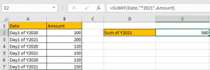 How to Sum by Formula if Cell Ends with in Excel11