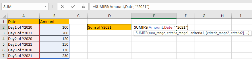 How to Sum by Formula if Cell Ends with in Excel4
