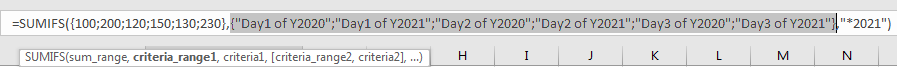 How to Sum by Formula if Cell Ends with in Excel7