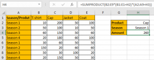 How to Sum by SUMPRDUCT with Specific Criteria in Excel 14