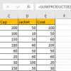 How to Sum by SUMPRDUCT with Specific Criteria in Excel 15