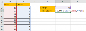 How to Sum if Greater Than A Number in Excel 11