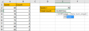 How to Sum if Greater Than A Number in Excel 5