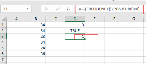 count unique numberic values5