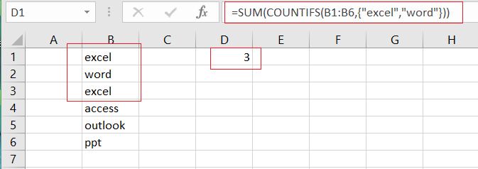 countifs function with multiple criteria or logic1