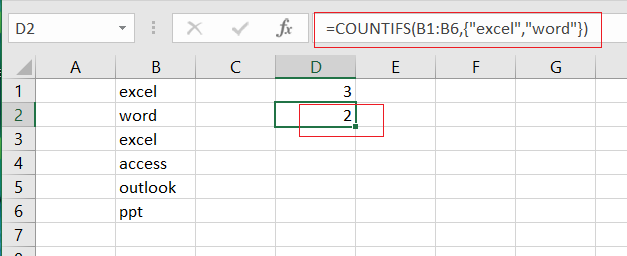 countifs function with multiple criteria or logic2