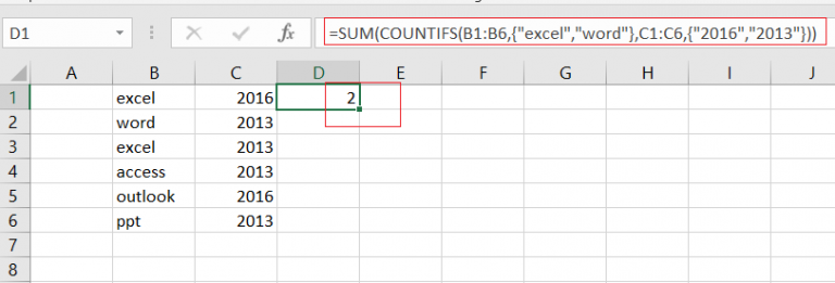 countifs function with multiple criteria or logic4