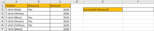 How to Sum by Formula If Cells Are Not Blank in Criteria1