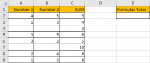 How to Sum for Cell Contains Formula Only in Excel 1