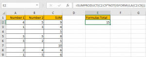 How to Sum for Cell Contains Formula Only in Excel 8
