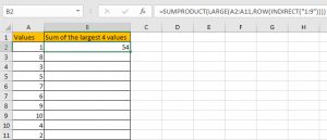 How to Sum the Largest N Values in Excel 11