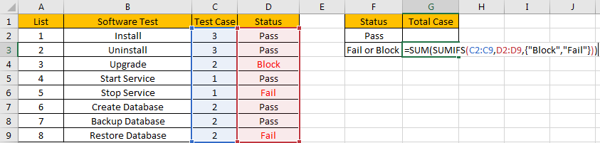 How to Sum with Criteria and Or Logic in Excel 1