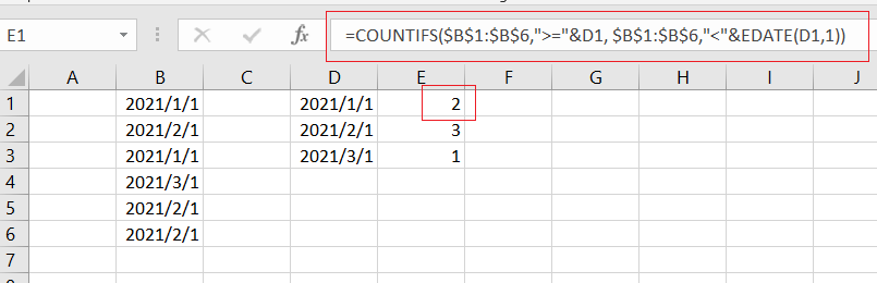 create a summary count by countif1