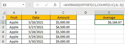 How to Average the Last N Values 2