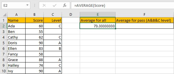 How to Calculate Average If Criteria Not Blank 2