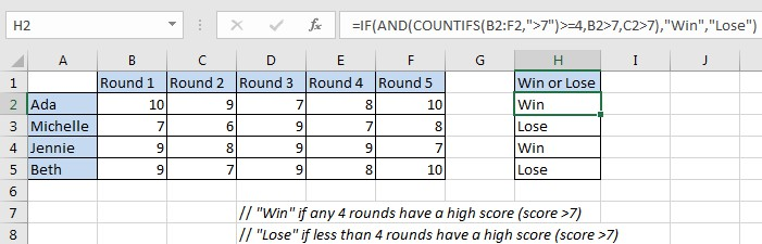 Statistic Pass 4 Out of 5 Rounds 1
