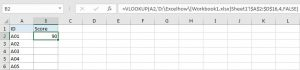 VLOOKUP - Retrieve Data from Another Workbook 1