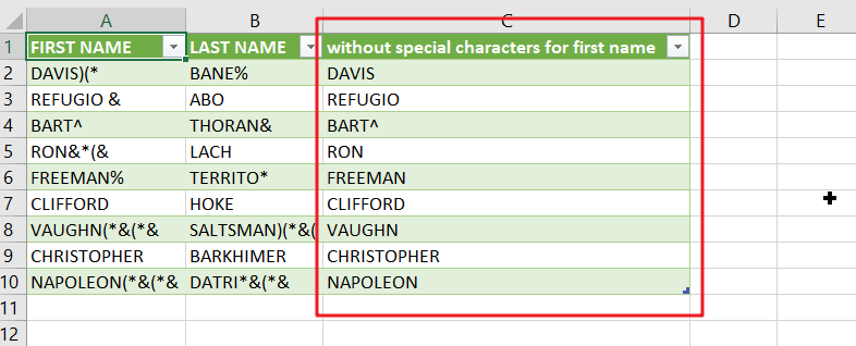 remove special character2