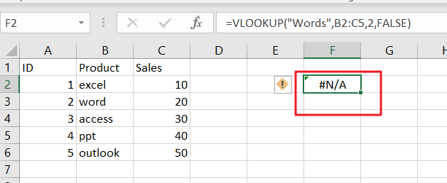 vlookup from another sheet not working3