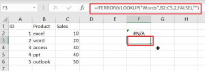 vlookup from anther sheet not working1